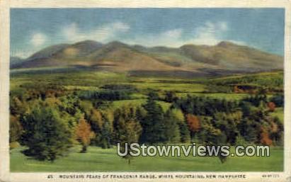 Franconia Range - White Mountains, New Hampshire NH Postcard