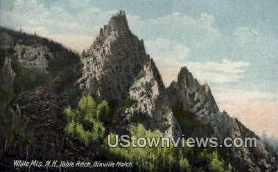 Table Rock, Dixville Notch - White Mountains, New Hampshire NH Postcard