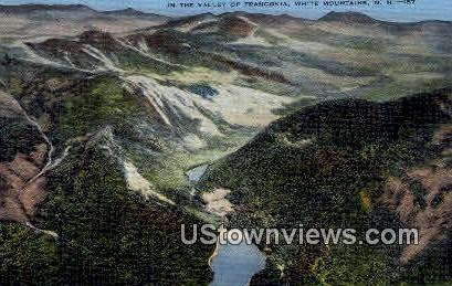 Valley of Franconia - White Mountains, New Hampshire NH Postcard