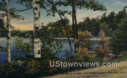 Lake Winnepesaukee - White Mountains, New Hampshire NH Postcard