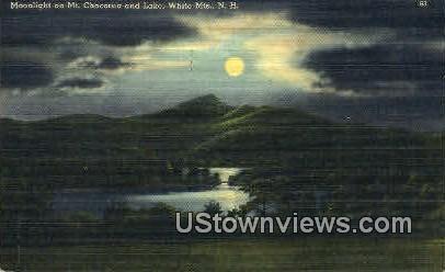 Mt Chocrua & Lake - White Mountains, New Hampshire NH Postcard