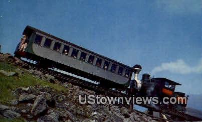 Cog Railway, Mt Washington - White Mountains, New Hampshire NH Postcard