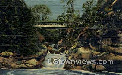 Sentinel Pine Bridge - White Mountains, New Hampshire NH Postcard