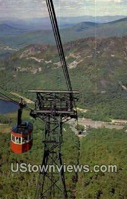 Tram Car, Cannon Mtn Aerial Tramway - White Mountains, New Hampshire NH Postcard