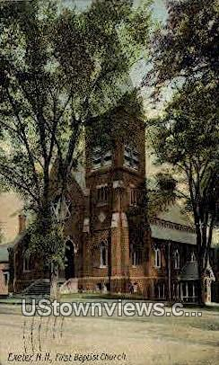 First Baptist Church - Exeter, New Hampshire NH Postcard