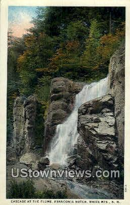 Cascade, The Flume - White Mountains, New Hampshire NH Postcard