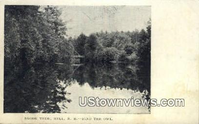Brook View - Hill, New Hampshire NH Postcard