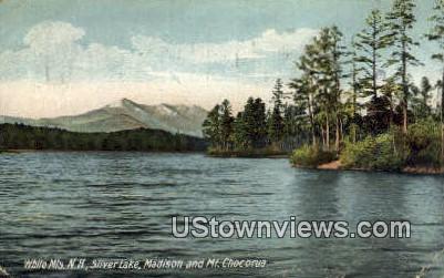 Silver Lake, Madison & Mt Chocorua - White Mountains, New Hampshire NH Postcard