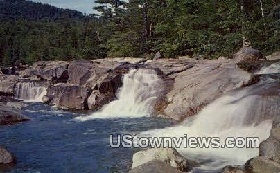 Lower Falls, Kancamagus Highway - White Mountains, New Hampshire NH Postcard