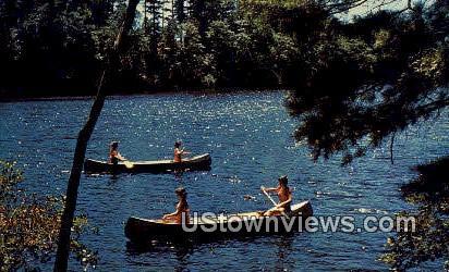Canoeing - Lake Winnipesaukee, New Hampshire NH Postcard