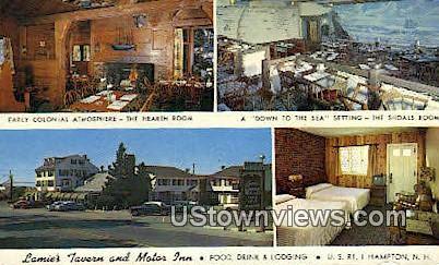 Lamie's Tavern & Motor Inn - Hampton, New Hampshire NH Postcard