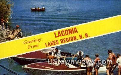 Lakes Region - Laconia, New Hampshire NH Postcard