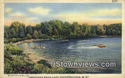 Lake Winnipesaukee, New Hampshire    ;     Lake Winnipesaukee, NH Postcard