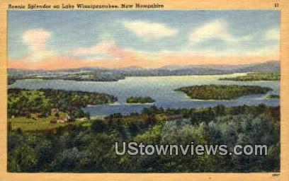 Lake Winnipesaukee, NH    ;      Lake Winnipesaukee, New Hampshire Postcard
