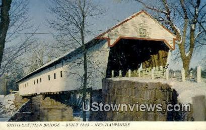 Smith Eastman Bridge, 1845 - White Mountains, New Hampshire NH Postcard