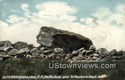 Profile Rock, Tuftonboro Neck - Lake Winnipesaukee, New Hampshire NH Postcard