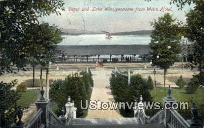 Depot, Weirs Hotel - Lake Winnipesaukee, New Hampshire NH Postcard