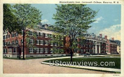 Massachusetts Row, Dartmuth College - Hanover, New Hampshire NH Postcard