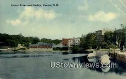 Exeter River & Harbor - New Hampshire NH Postcard