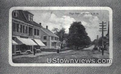 High Street - Hampton, New Hampshire NH Postcard