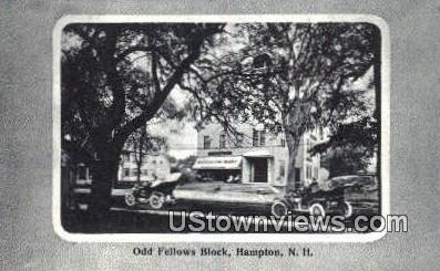Odd Fellows Block - Hampton, New Hampshire NH Postcard