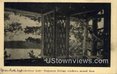Cragsmere Cottage Windows - Misc, New Hampshire NH Postcard