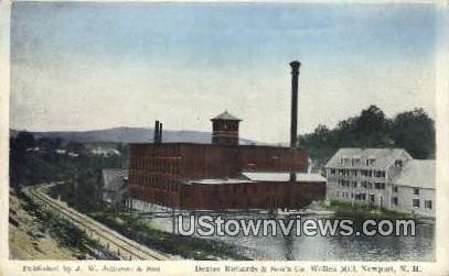 Dexter Richards & Son's Co, Wollen Mill - Newport, New Hampshire NH Postcard