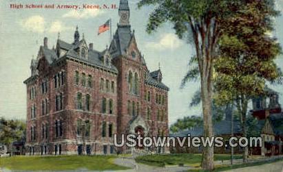 High School & Armory, Keene - New Hampshire NH Postcard