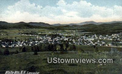 White Mountains - Lancaster, New Hampshire NH Postcard