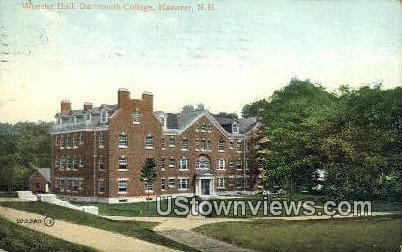 Wheeler Hall, Dartmouth College - Hanover, New Hampshire NH Postcard