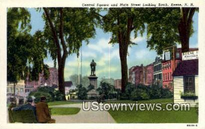 Central Square, Main Street - Keene, New Hampshire NH Postcard