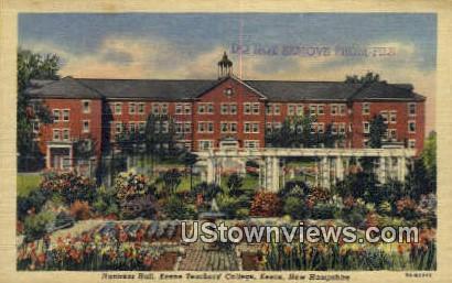 Huntress Hall, Keene Teachers' College - New Hampshire NH Postcard