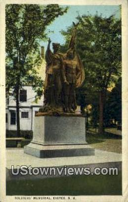 Soldiers Memorial - Exeter, New Hampshire NH Postcard