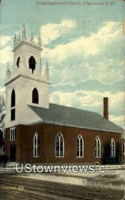 Congregational Church - Claremont, New Hampshire NH Postcard