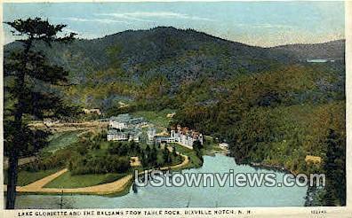 Lake Gloriette & Balsams, Table Rock - Dixville Notch, New Hampshire NH Postcard