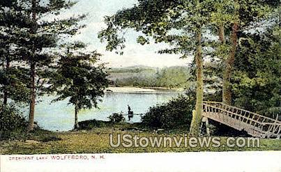 Crescent Lake - Wolfeboro, New Hampshire NH Postcard