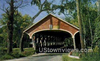 Covered Bridge - Lancaster, New Hampshire NH Postcard