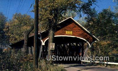 Mechanic Street Covered Bridge - Lancaster, New Hampshire NH Postcard