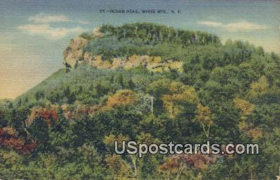Indian Head - White Mountains, New Hampshire NH Postcard