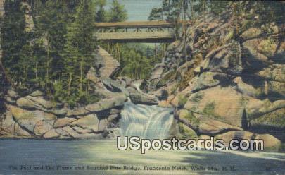 Pool & The Flume, Sentinel Pine Bridge - White Mountains, New Hampshire NH Postcard