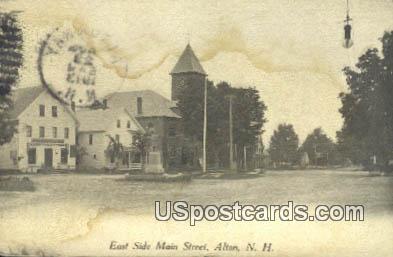 East Side Main Street - Alton, New Hampshire NH Postcard