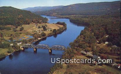 Cheshire Toll Bridge - Charlestown, New Hampshire NH Postcard