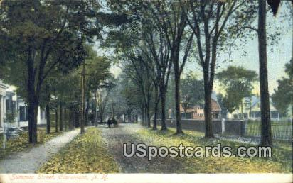 Summer Street - Claremont, New Hampshire NH Postcard