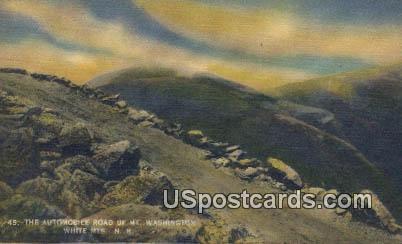 Automobile Road, Mt Washington - White Mountains, New Hampshire NH Postcard