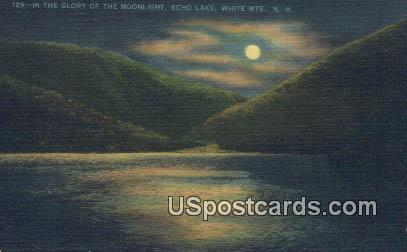Echo Lake - White Mountains, New Hampshire NH Postcard