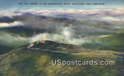 Summit of Mt Washington - White Mountains, New Hampshire NH Postcard