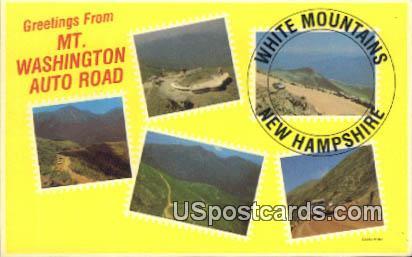 Mt Washington Auto Road - White Mountains, New Hampshire NH Postcard