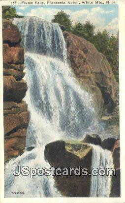 Flume Falls, Franconia Notch - White Mountains, New Hampshire NH Postcard