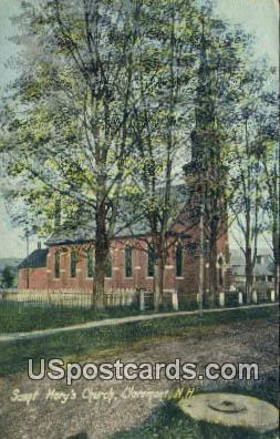 Saint Mary's Church - Claremont, New Hampshire NH Postcard