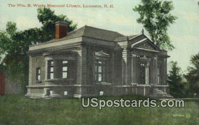 Wm B Weeks Memorial Library - Lancaster, New Hampshire NH Postcard